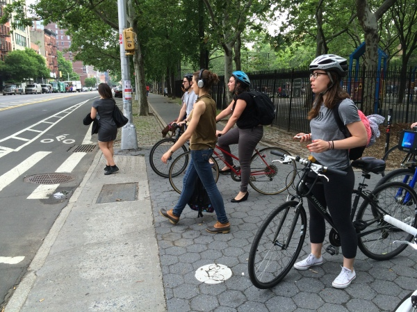 Pedestrians and cyclists can co-exist.